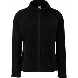 Lady-Fit Full Zip Fleece Jacket Black