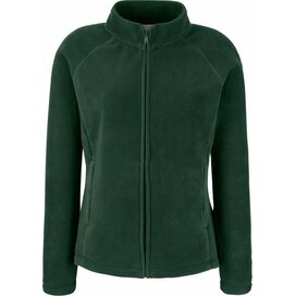 Lady-Fit Full Zip Fleece Jacket Bottle Green