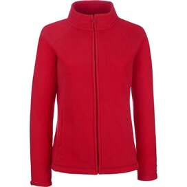 Lady-Fit Full Zip Fleece Jacket Red