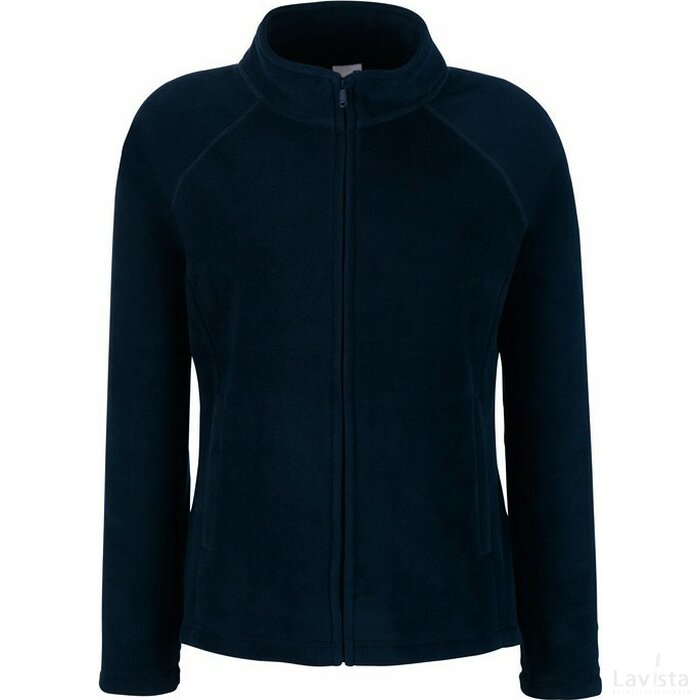 Lady-Fit Full Zip Fleece Jacket Deep Navy