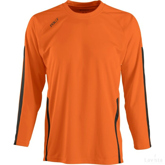 Kids Wembley Longsleeve Orange/Black