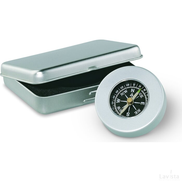 Kompas Target zilver