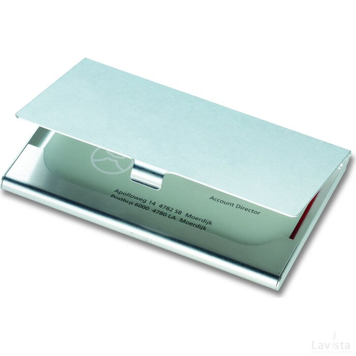 Aluminium visitekaarthouder Epsom zilver