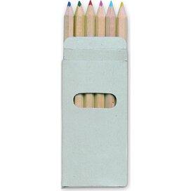 6 Kleurpotloden in doosje Abigail multicolour