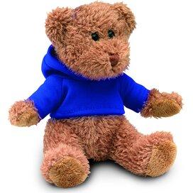 Teddybeer met sweatshirt Johnny Blauw