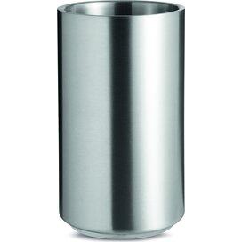 Roestvrijstalen flessenkoeler Coolio mat zilver