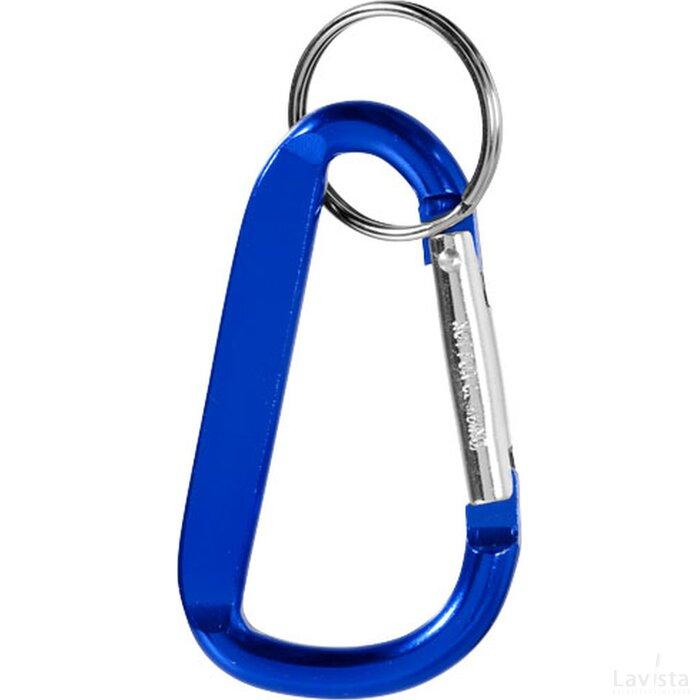 Timor sleutelhanger met karabijnhaak blauw