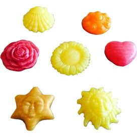 Diversen vormen bedrukte zeepjes 30grams