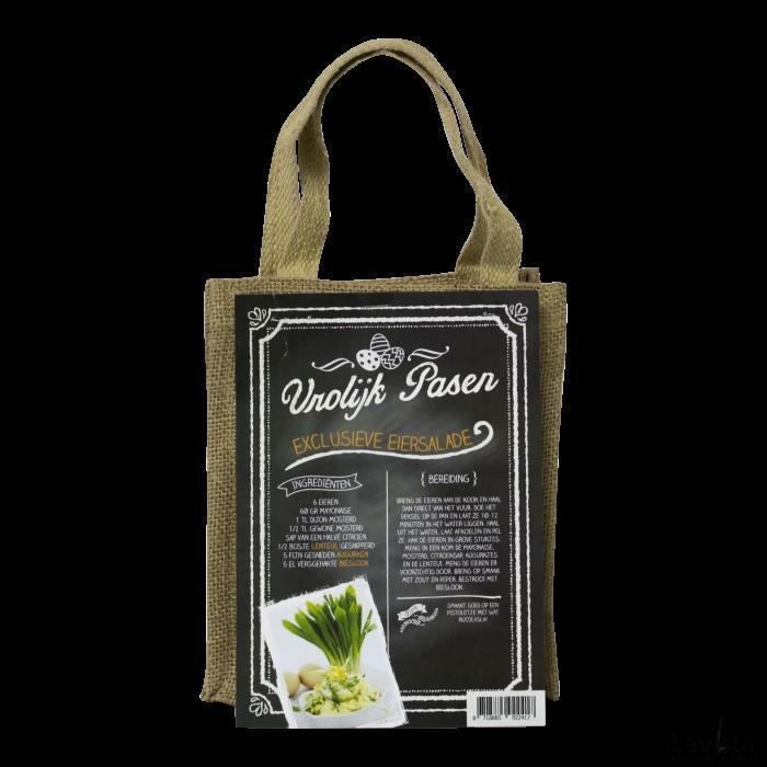 Zaadjes in een stoffen tas