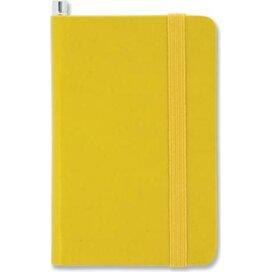 Notitieboek mini en potlood Geel