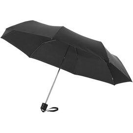 Ida 21.5'' 3 sectie paraplu Zwart