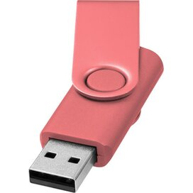 Rotate metallic USB 4GB Roze
