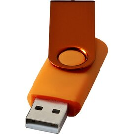 Rotate metallic USB 4GB Oranje