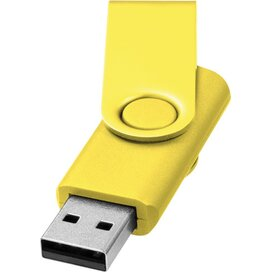 Rotate metallic USB 4GB geel
