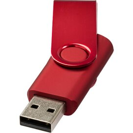 Rotate metallic USB 4GB Rood