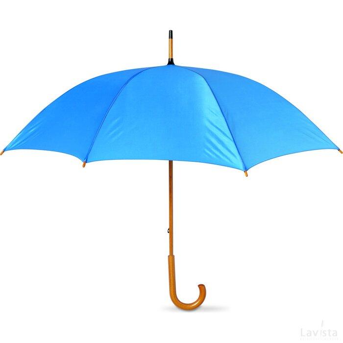 Paraplu met houten handvat Cala (Kobalt) blauw