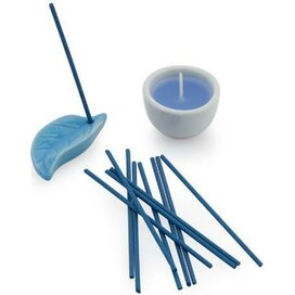 Inciense And Candle Set Nikel Blauw