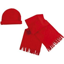 Fleece Set Estepa Rood