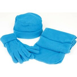 Fleece Set Glen Blauw