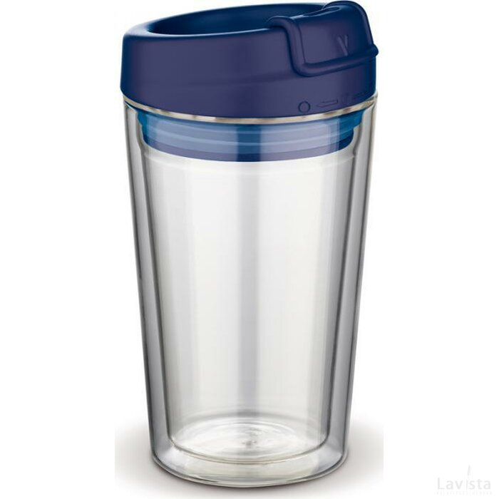 Coffee to go Flavour glas Donker blauw