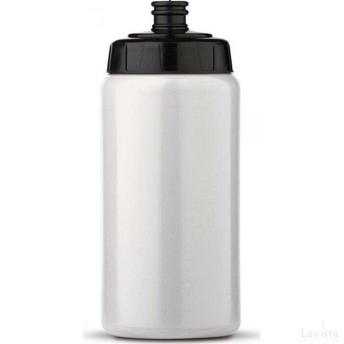 Sportbidon 500 ml Wit / Zwart
