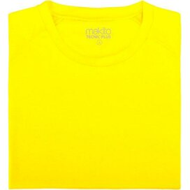 Adult T-shirt Tecnic Plus Geel Fluor