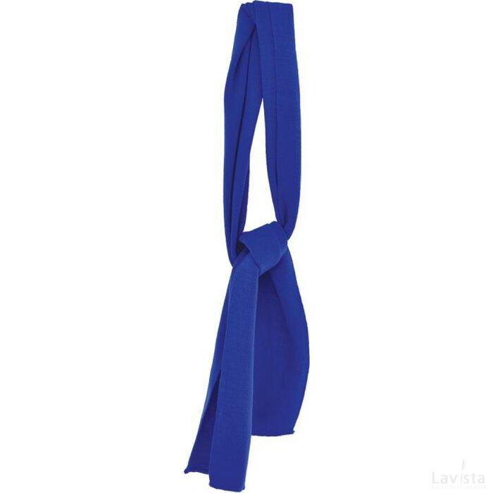 Gebreide Promo Sjaal Kobalt