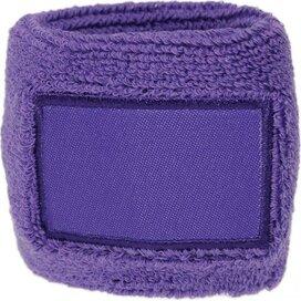 Polsband 6cm Met Label Purple
