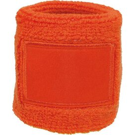 Polsband 6cm Met Label Oranje