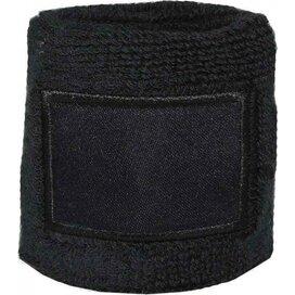 Polsband 6cm Met Label Zwart