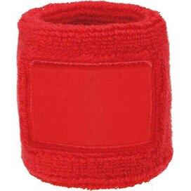 Polsband 6cm Met Label Rood