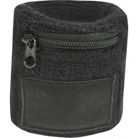 Polsbandje Met Rits 6cm Met Label Zwart
