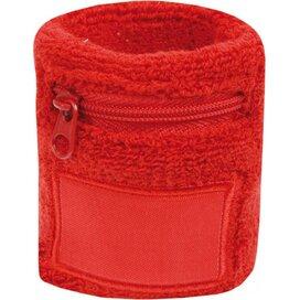 Polsbandje Met Rits 6cm Met Label Rood