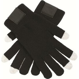 Touchscreen Handschoenen Met Label Black