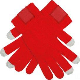 Touchscreen Handschoenen Met Label Rood