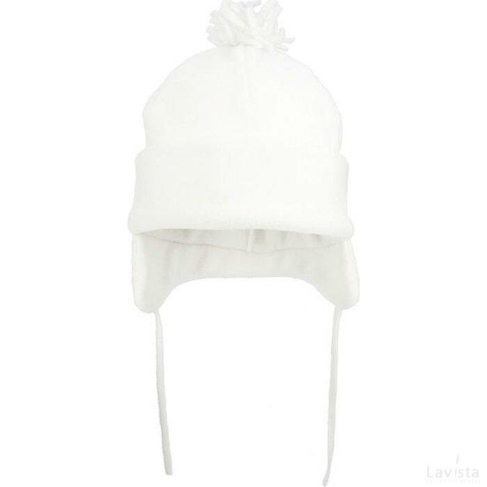 Fleece Wintermuts Met Pompoen 280 Gr/m2 Wit