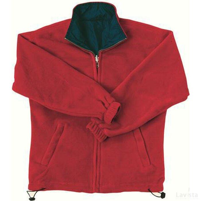 Nilton`s Tweezijdig Draagbaar Fleece Vest Rood