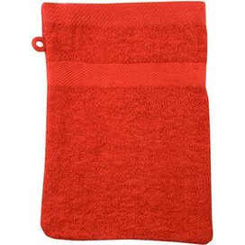 Washand 22*16cm, 380 Gr/m2 Rood