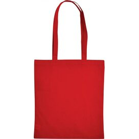 Cotton Bag Lang Hengsel Rood