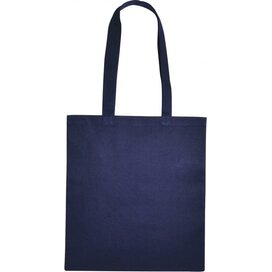 Cotton Bag Lang Hengsel Marine Blauw